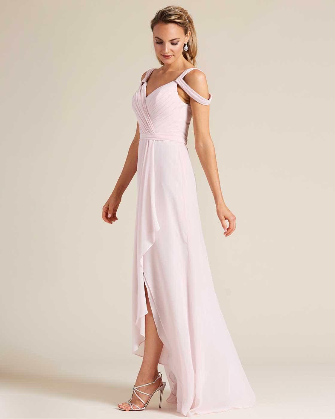 Light Pink Multi Strap Ruched Top Dress - Side