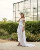 Classic Open Back Ruffle Style Wedding Dress - Editorial
